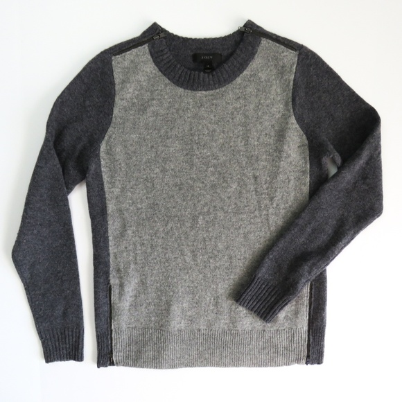 a56b46373ea J. Crew Sweaters - J Crew Double Zip Knit Crewneck Sweater